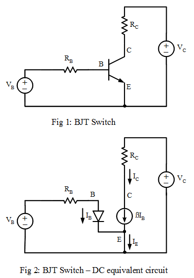bipolar junction transistor  bjt  switch