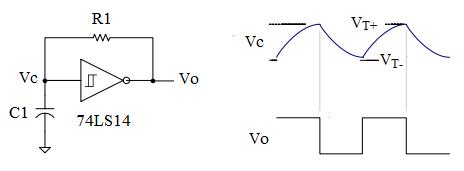Schmitt trigger oscillator online digital electronics course for Bascule transistor